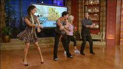 Vanessa Minnillo&Kelly Ripa Zumba Exercise 1/5/12 Live With Kelly!