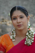 Tollywood Actress Sanghavi Half Saree Photos cleavage