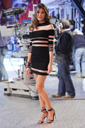 Belen Rodriguez performing on Italian TV show 27-03-2011 (Leggy)