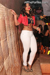 Mya Harrison @ ATL Cream Ultra Lounge in Sexy &amp;quot;Painted On&amp;quot; White Jeans (8/26/11)
